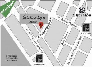 Mapa locatização, Atelier Cristina Lopes,